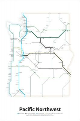 Simplified map of all Interstate and U.S. Highways in the ...
