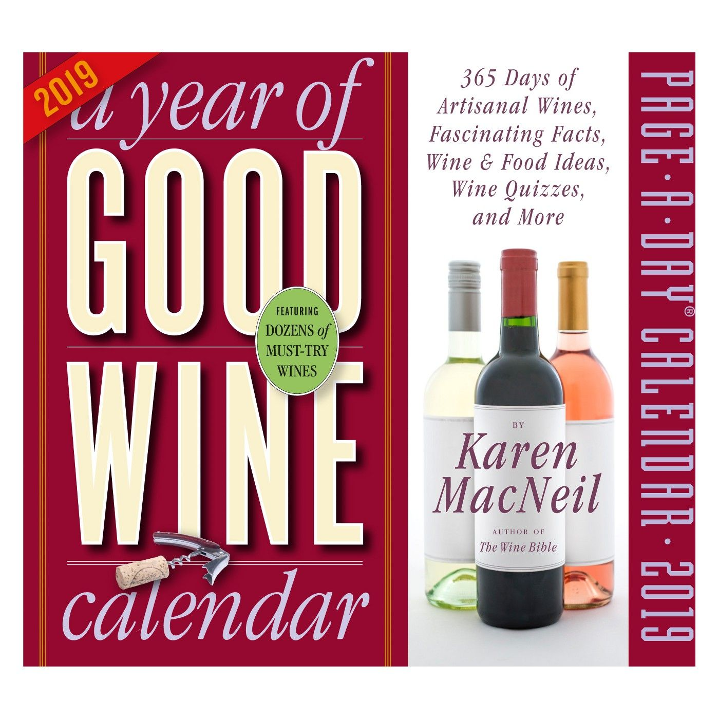 2019 A Year Of Good Wine Desktop Calendar Affiliate Wine Preserver Wine Cooler Wine Lovers