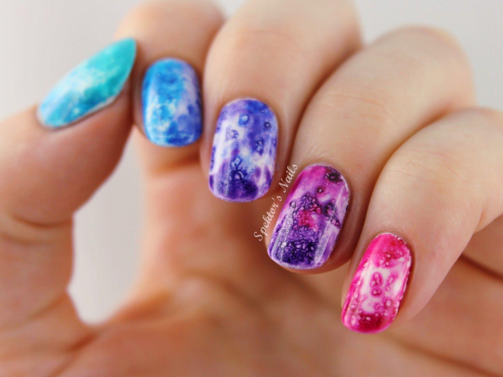 Gradient Salted Watercolor Nails | NAILING IT | Pinterest | Nail ...