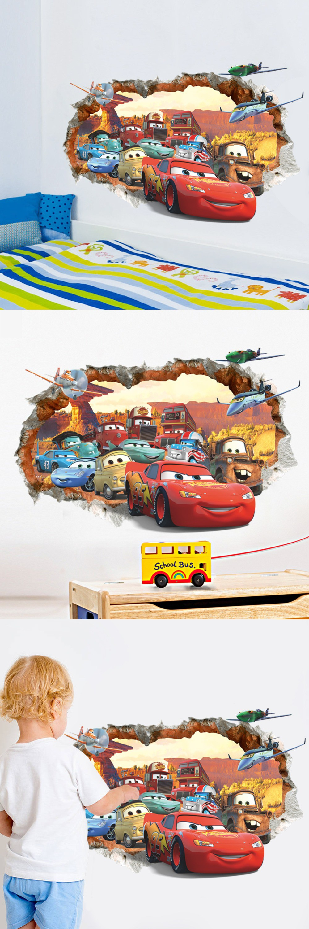 Best Newest Hot Cartoon Cars Child Room Wall Stickers For Kids 400 x 300