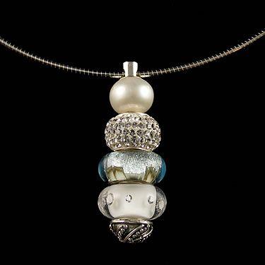 Art deco interchangeable bead pendant trollbead bracelet art deco interchangeable bead pendant aloadofball Choice Image