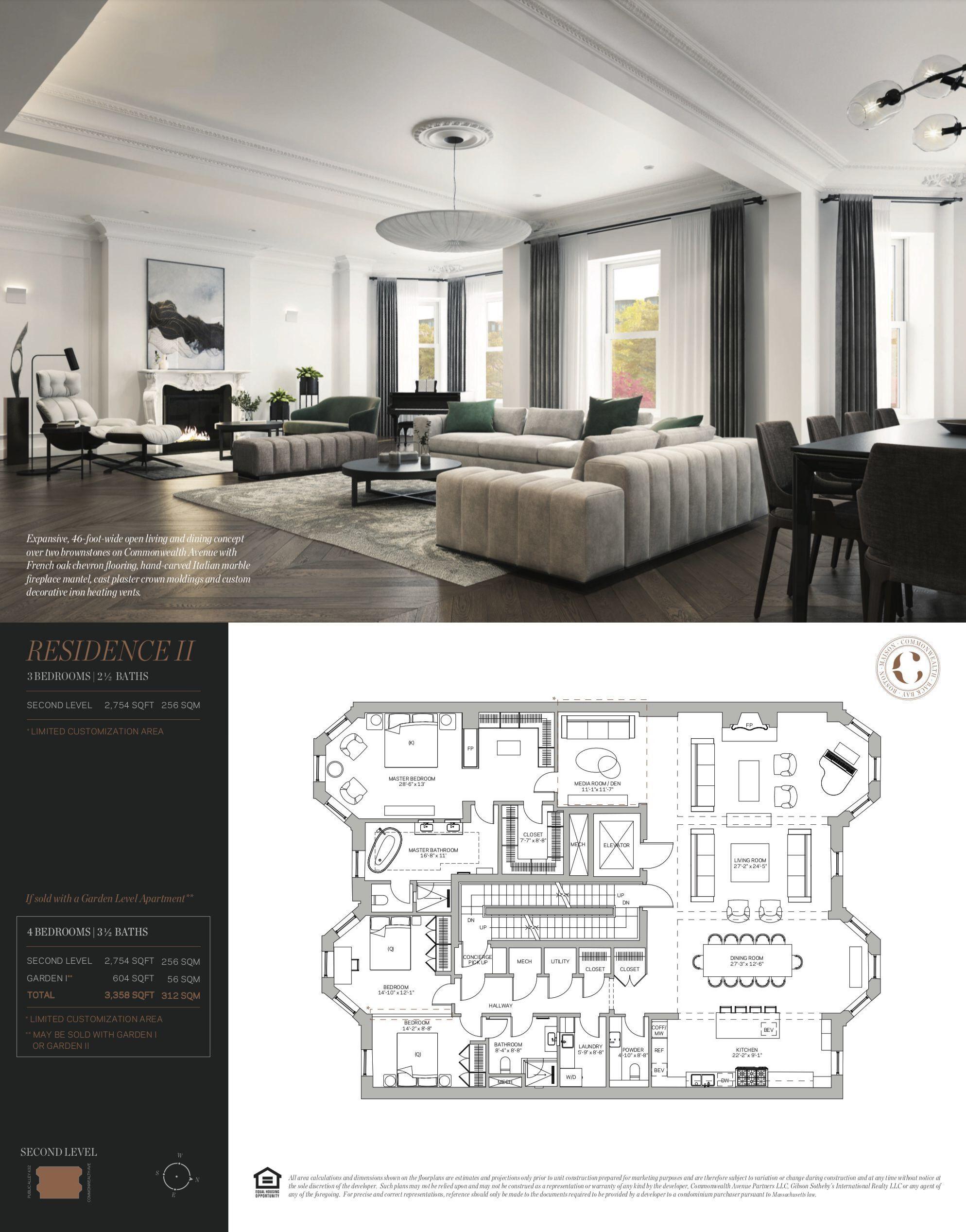 Maison Commonwealth Back Bay Boston Residence 2 Home Building Design Penthouse Apartment Floor Plan Apartment Floor Plans