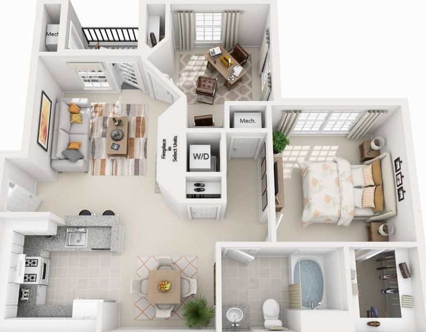 The Courts At Dulles Apartment Rentals Herndon Va Zillow House Floor Design Apartment Floor Plans Sims House Plans