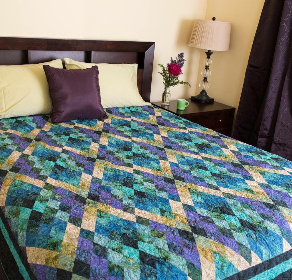 Beautiful argyll quilt is simple and stunning