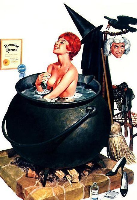 Pin by Mark Blu on Pinups! Pinterest Witches, Pulp art and Artsy - sexy halloween decorations
