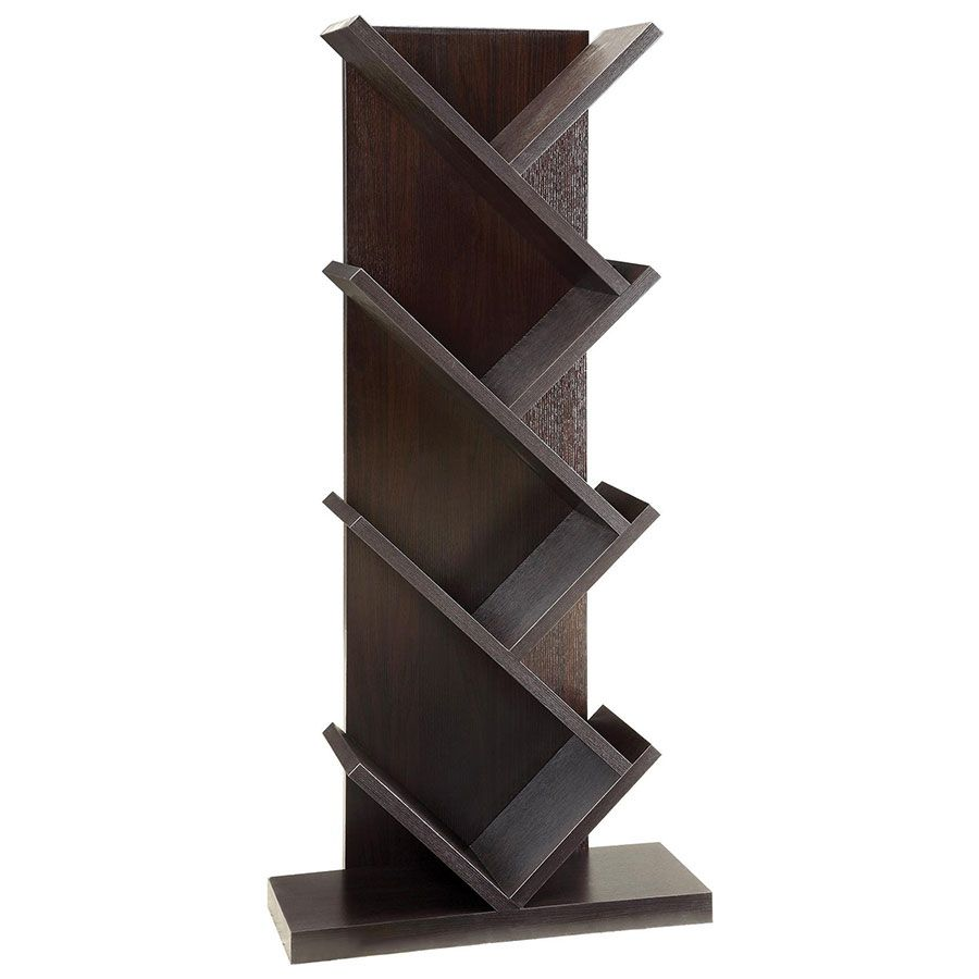 Vergo Modern Slanted Bookshelf Coaster Furniture Contemporary