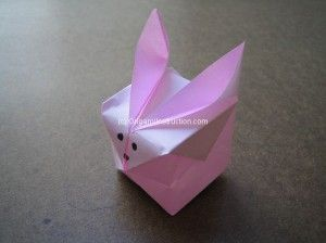 Origami Inflatable Rabbit Step By Instruction
