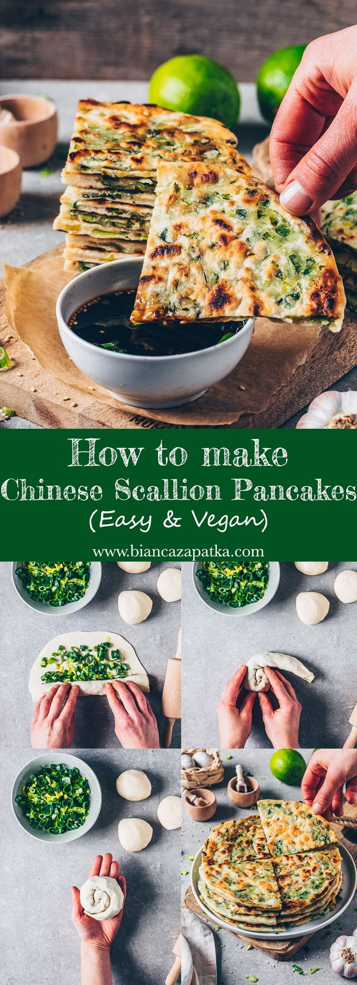 Scallion Pancakes (Vegan Recipe) - Bianca Zapatka | Recipes