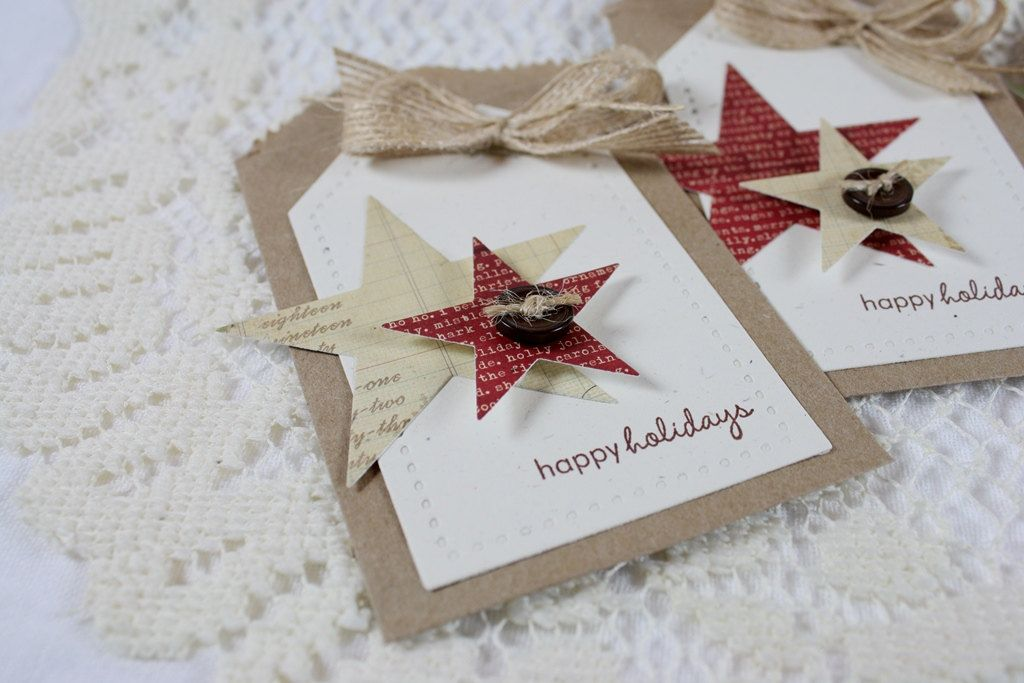 Handmade Holiday Tiny Treat Bags/Gift Card Holders - Set of 4