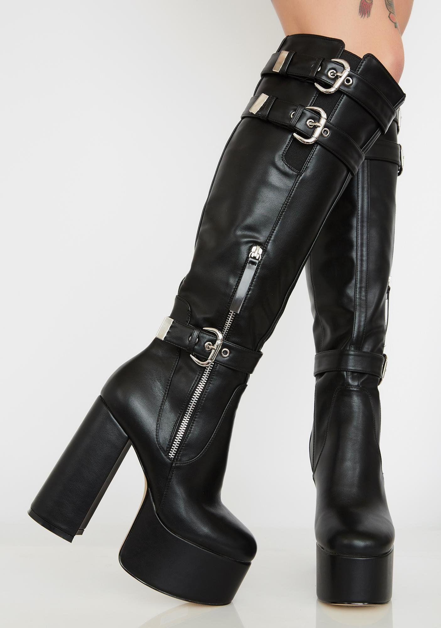 Notorious Platform Boots | Platform boots, Boots, Knee high