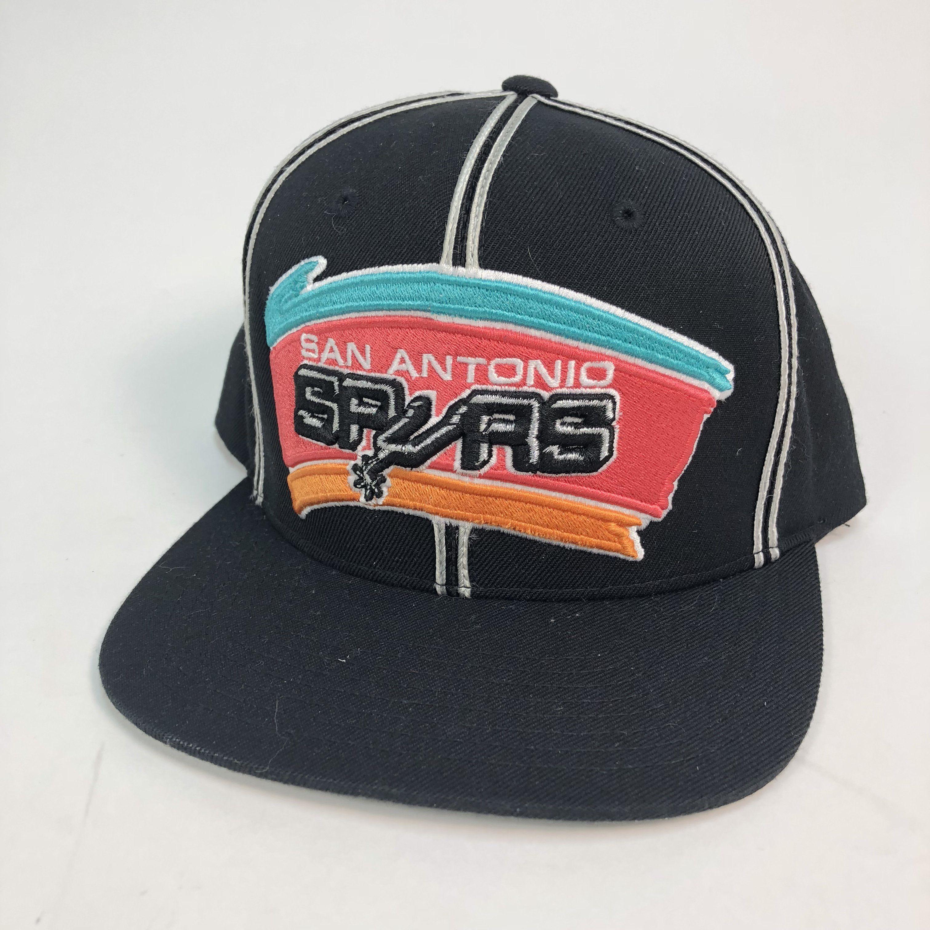 e6279053705ca San Antonio Spurs Mitchell   Ness NBA Hardwood Classics Flat Bill Snapback  Hat