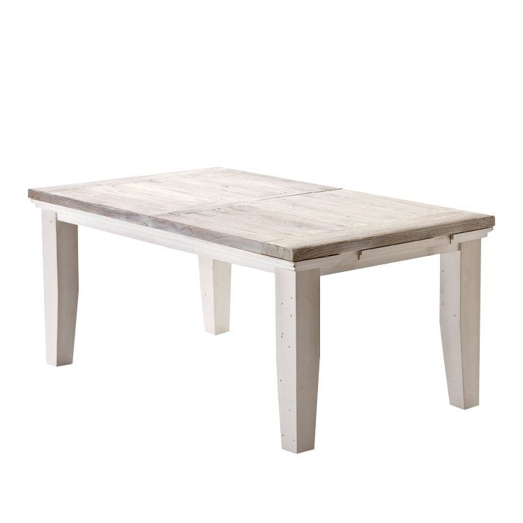 Landhaus Tische esstisch opera mit ausziehfunktion i kiefer massiv weiß