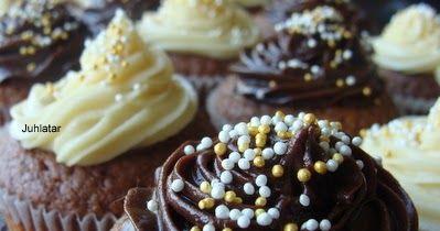 Yhteishyvä-lehdestä napattu todella herkullinen muffinssiohje. Kuvassa esitelty kahdella eri kuorrutteella. Ohjeesta tulee 12kpl normaa...