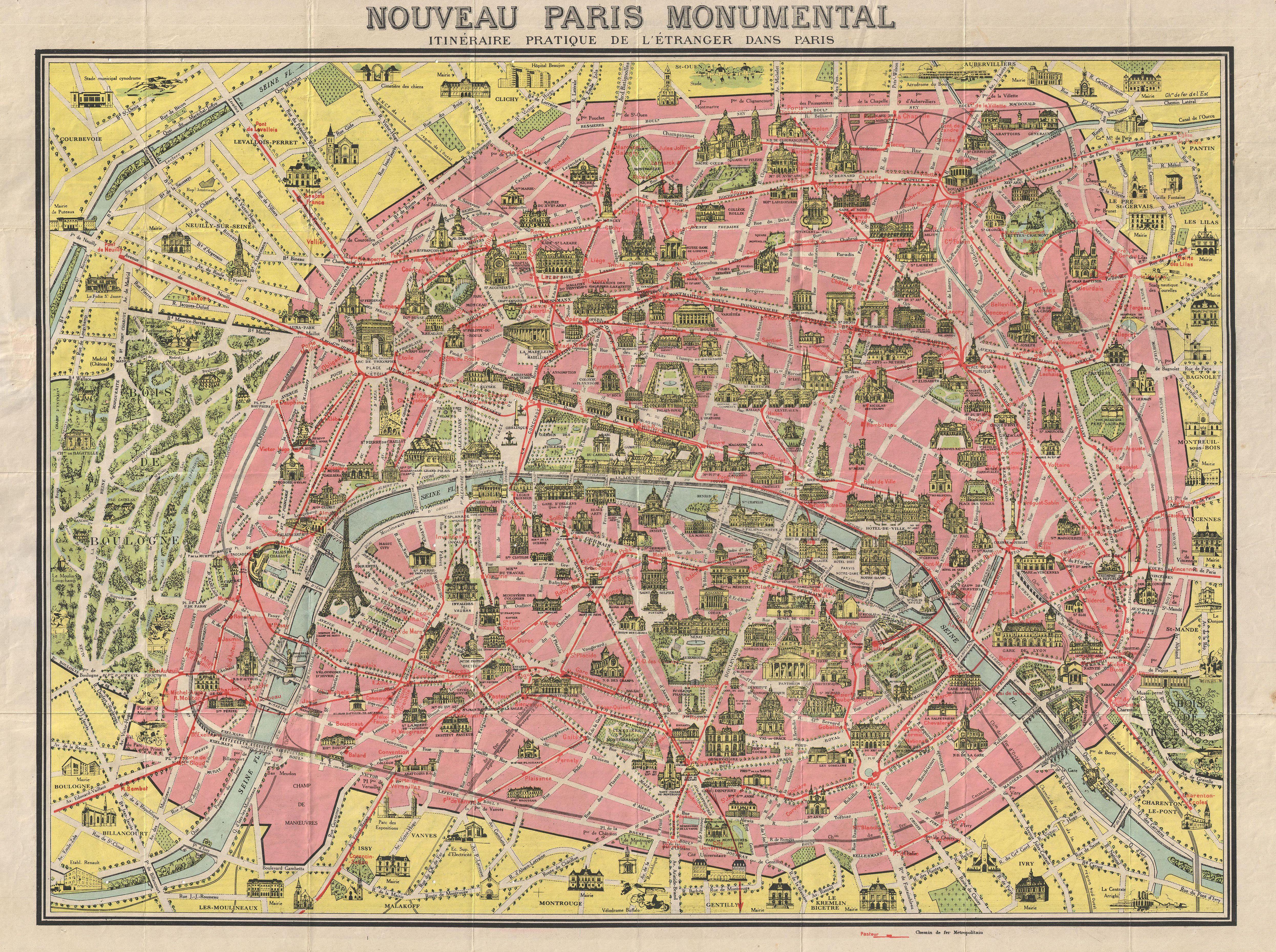 PARIS I Old Maps of Paris - Year 1920 | Maps Maps Maps | Pinterest ...
