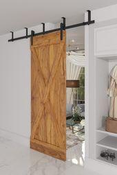 Wooden sliding doors in an elegant interior. Interior doors …