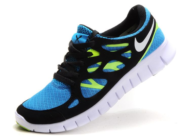 418fa895c4b reduced blue glow white black volt nike free run 2 womens running shoes .  great womens