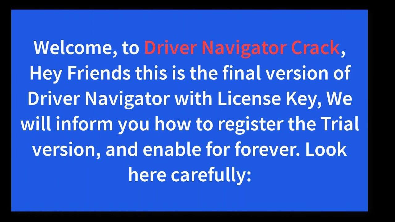 download driver navigator full keygen.zip