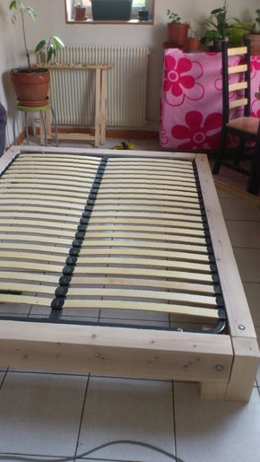 Création du0027un cadre de lit en bois Plan gratuit Notre maison