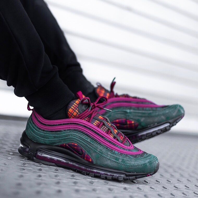Nike's Air Max 97 NRG Team Red Midnight Spruce sneaker is