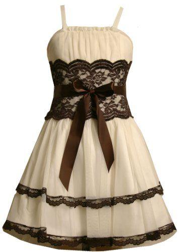 94d44de0 JCPenney Girl Clothing 7 16 | Feature: Back Zipper; Lace trim, ruffle  bodice.
