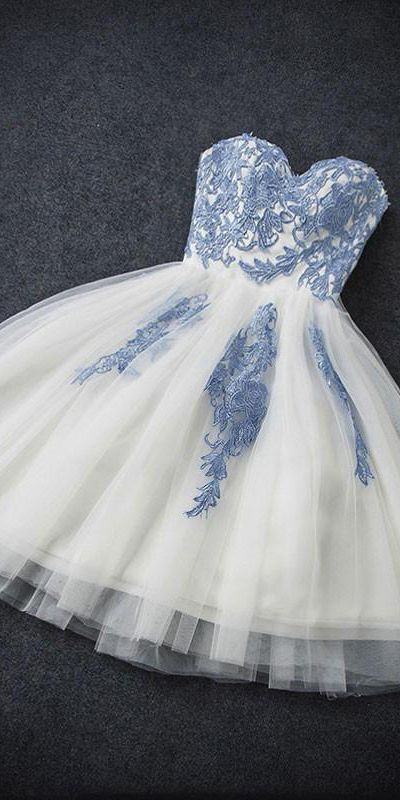 Sexy Homecoming Dress A-line Sweetheart Sleeveless Tulle Short Prom Dress Party Dress OHM105