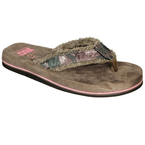 611590d15c957 Realtree Girl Women's Xtra Green Camo Bliss Flip Flop   Boots, Shoes ...