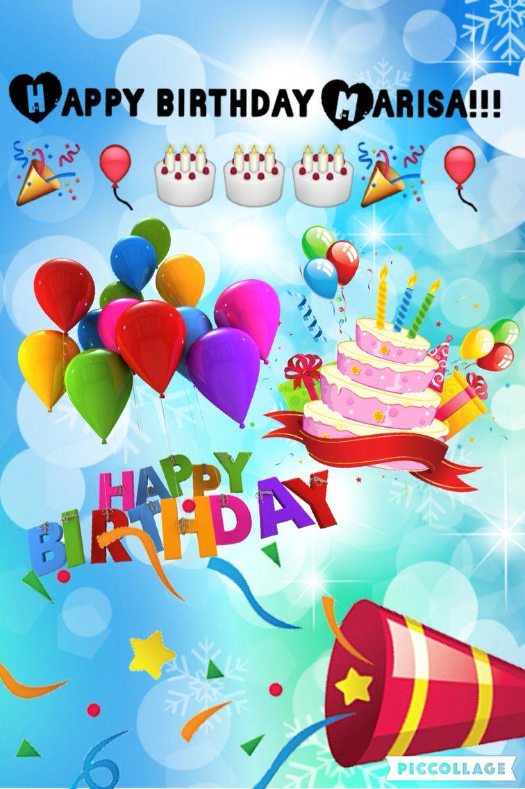 happy birthday marissa Happy birthday Marissa!!!!!!!!!! I hope this is your best birthday  happy birthday marissa