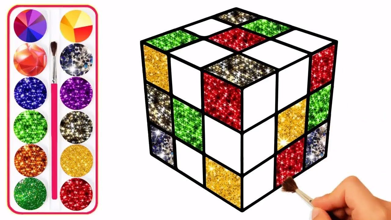 Rubik S Cube Coloring And Drawing Learn Colors For Kids 2 More