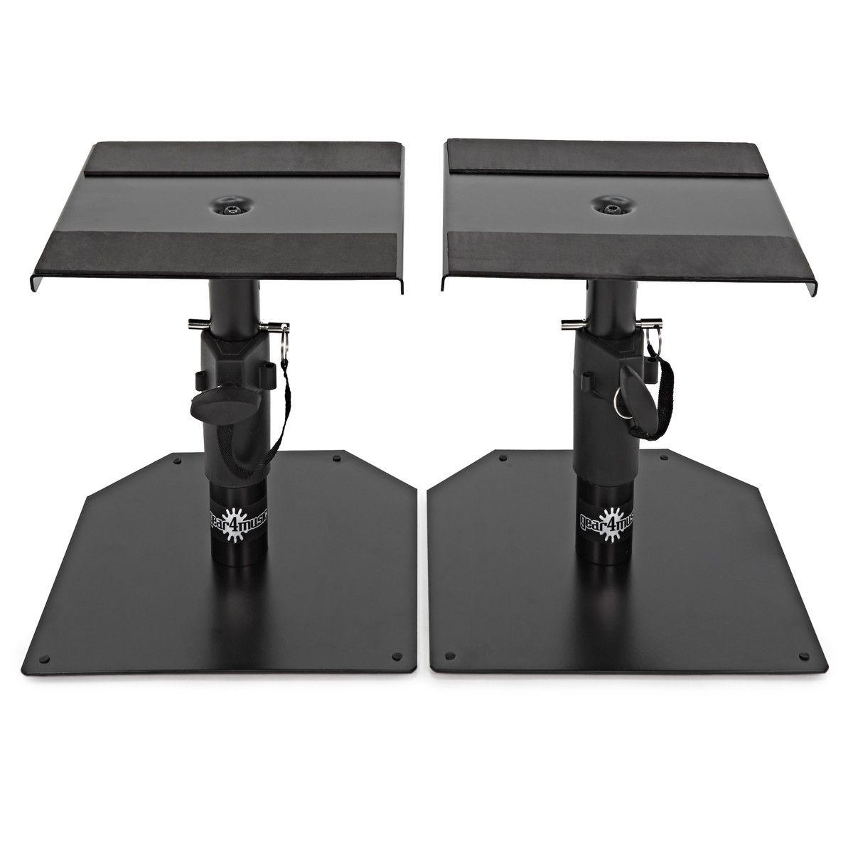 desktop monitor speaker stands by gear4music pair home studio recording desktop speakers. Black Bedroom Furniture Sets. Home Design Ideas