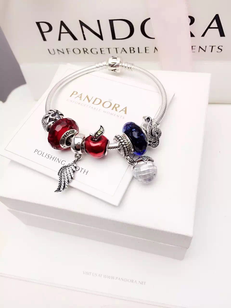 e9da612f6 $199 Pandora Charm Bracelet Red Blue. Hot Sale!!! SKU: CB02087 - PANDORA  Bracelet Ideas