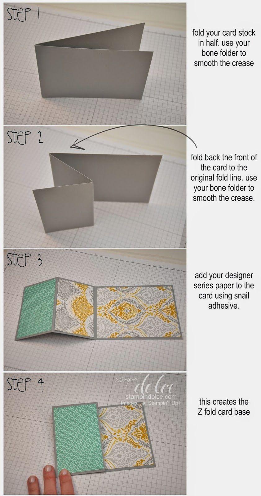Diy Zfold Card Tutorial Paper Cards Fancy Fold Cards Folded Cards