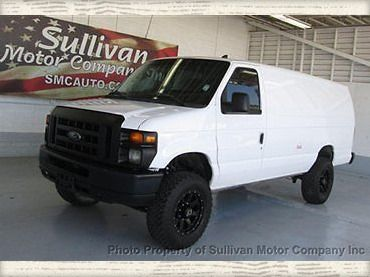 2009 Ford E350 Lifted 4 WHEEL DRIVE Cargo Van Quigley 4X4 System 4in Lift