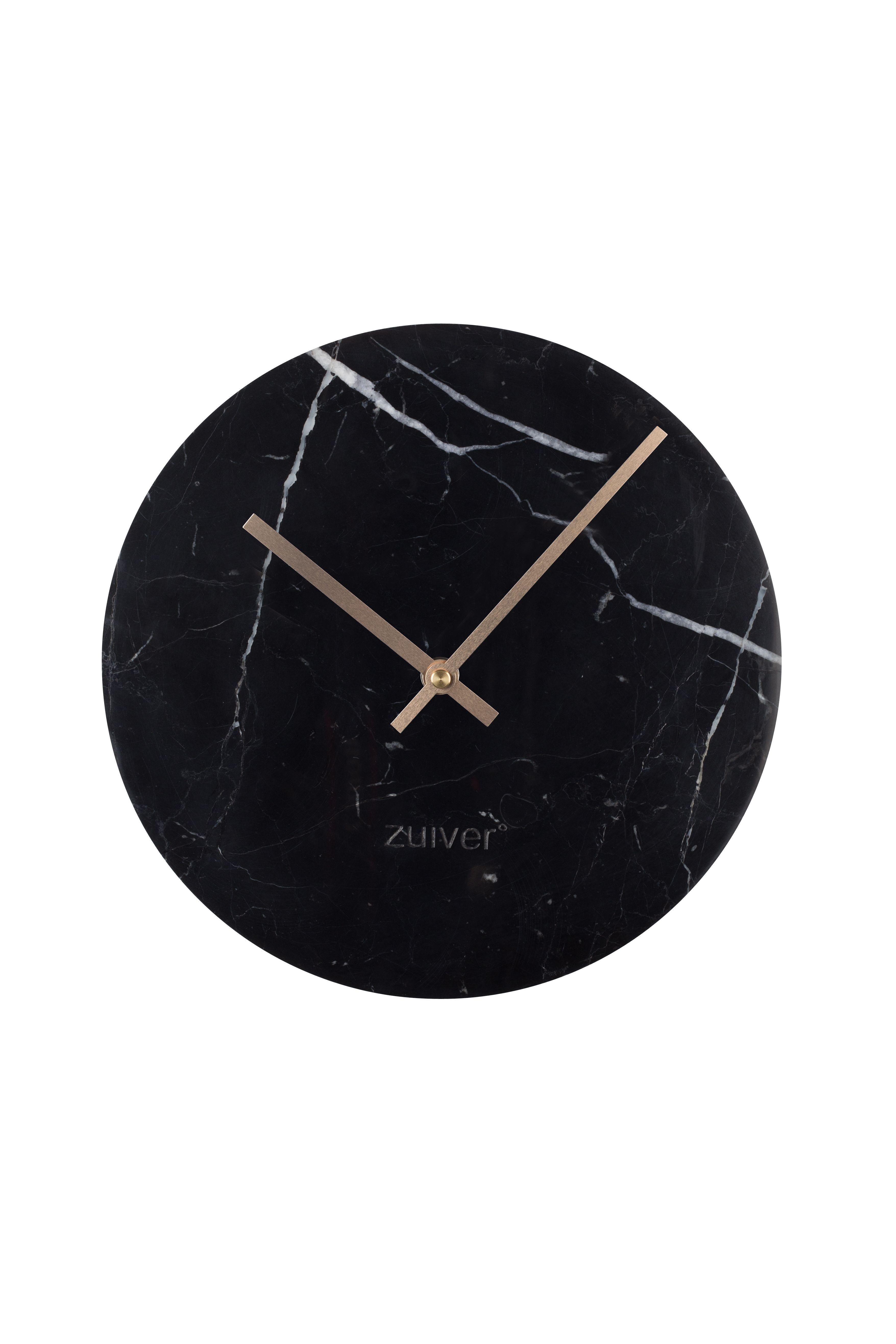 Marble Time Wall Clock Clock Black Marble Marble