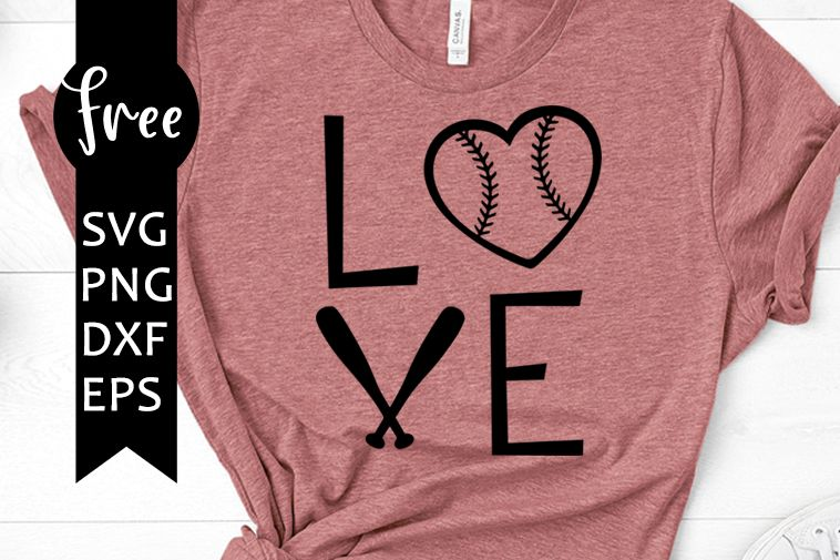Photo of Love baseball free svg, sport svg, baseball heart svg, instant download, shirt design, free vector files, mom svg, softball svg, png, dxf 0198