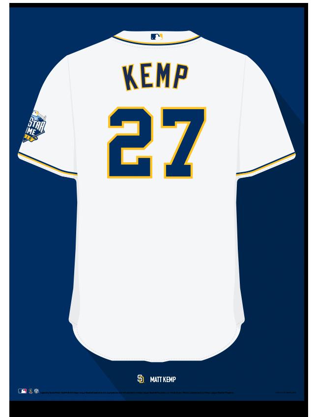 61bac4eebb6 Padres Matt Kemp Jersey Print