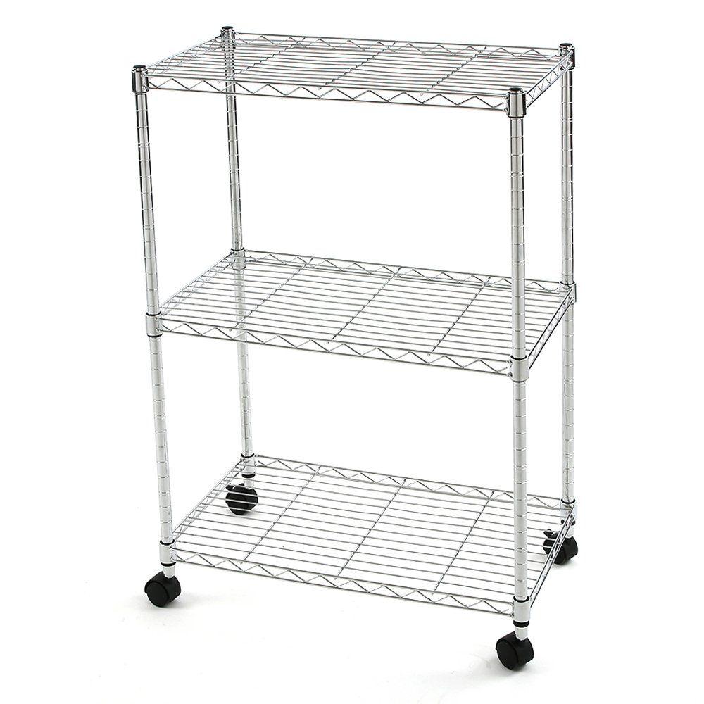 21 wire storage rack with wheels ideas