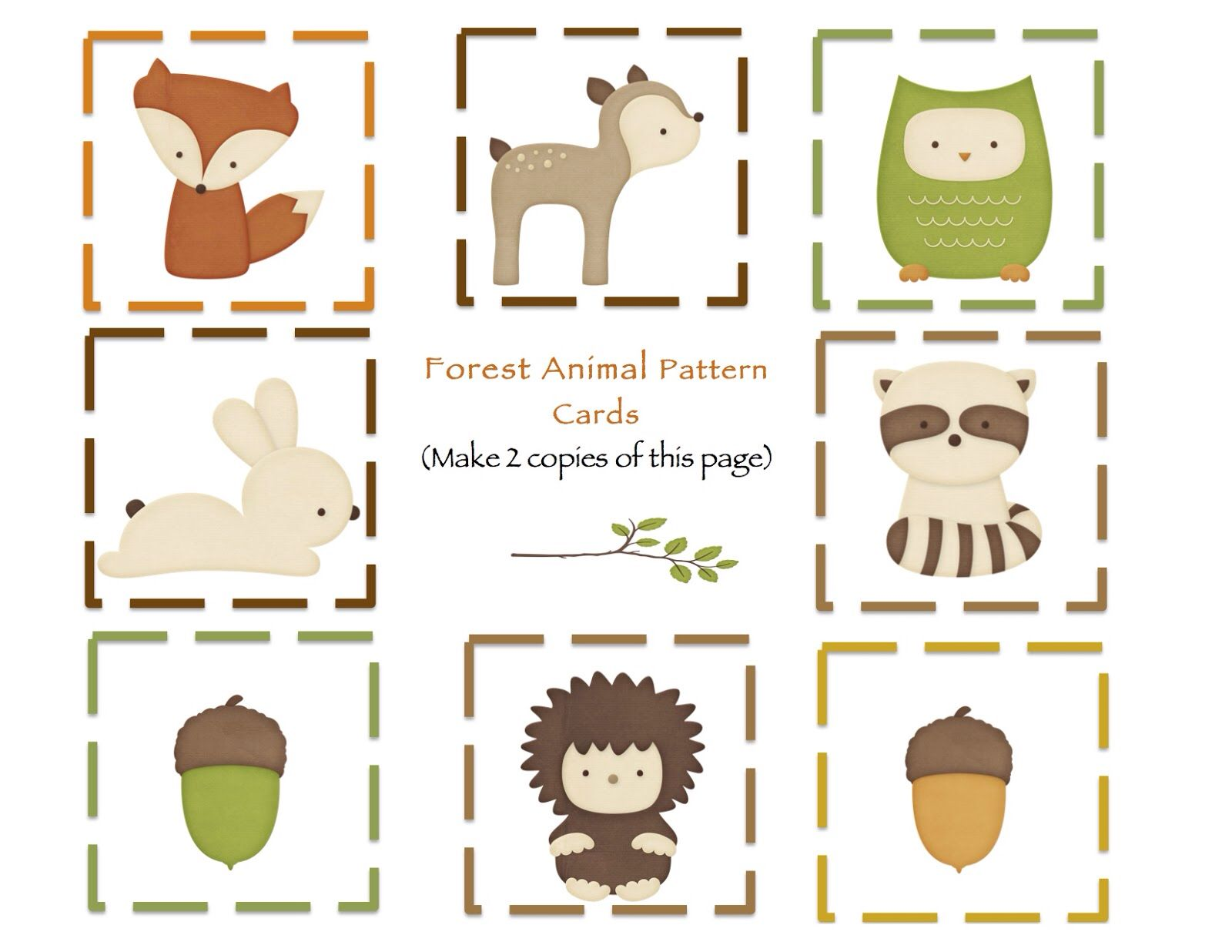 Free Printable Flash Cards Animal Party Woodland Animals Party Woodland Birthday Party