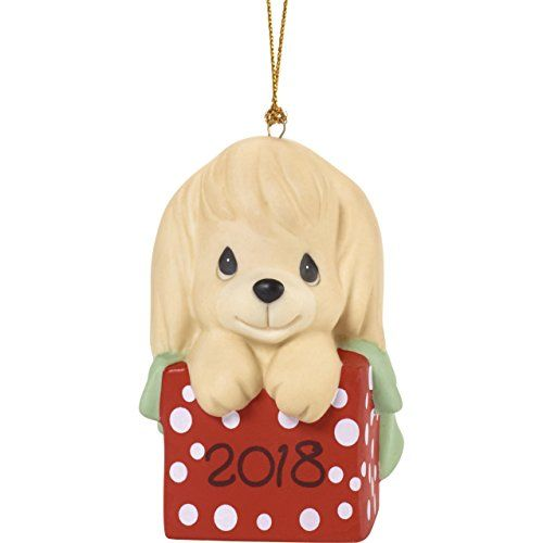 Precious Moments\u201dHave A Paw-FECT Christmas Dated 2018 Dog Ornament