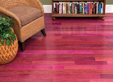 African Purple Heart Wood Floor What