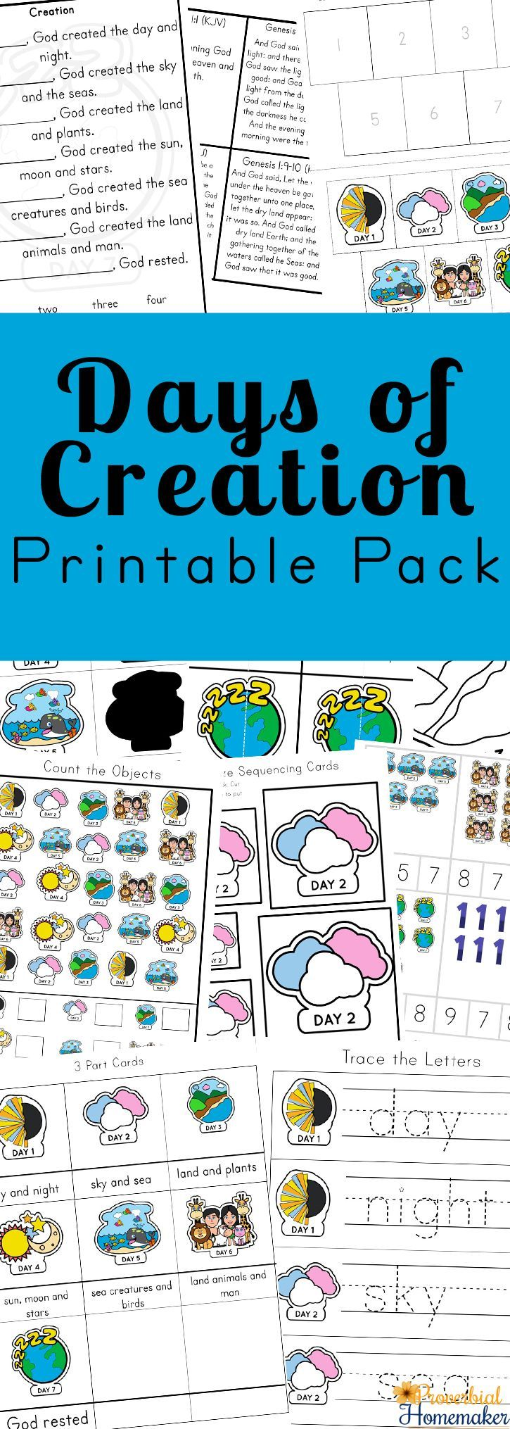 Days of Creation Printable Pack | Days of creation ...