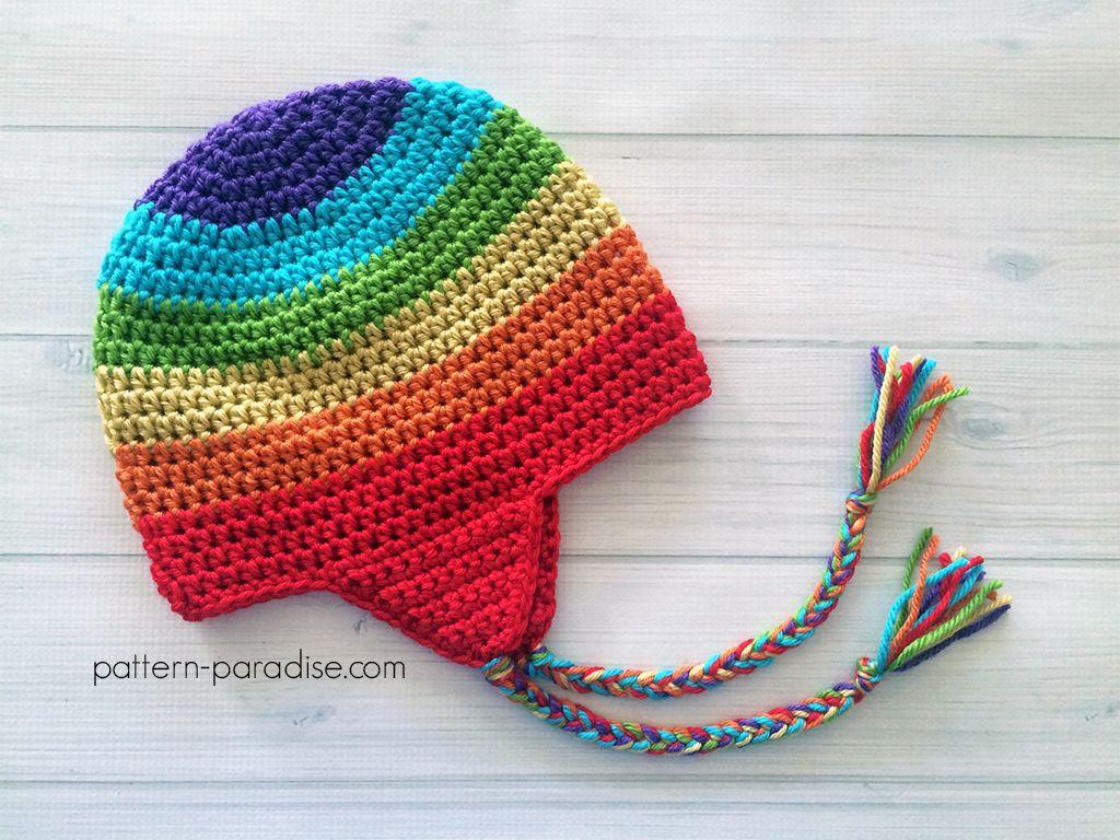 Free Crochet Pattern: Easy Earflap Hat | Crochet Hats | Pinterest ...