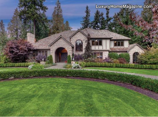 LHM Seattle   Luxury Estate Home #LuxuryHomes #FrontYard #Landscaping