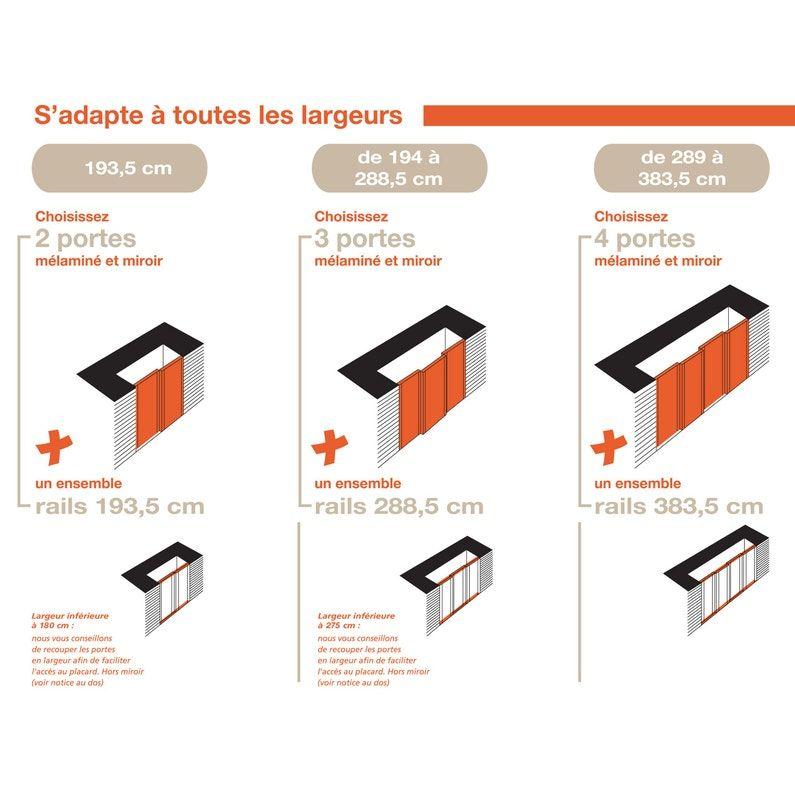 Porte De Placard Coulissante Chene Spaceo L 97 5 Porte Placard Coulissante Porte Placard Et Placard Coulissant