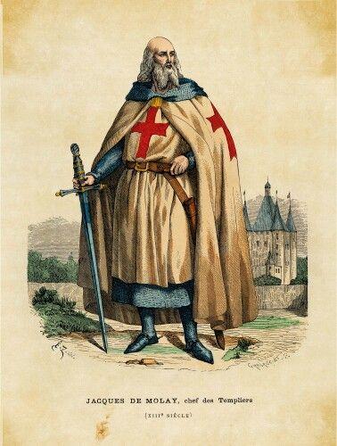 Jacques de Molay (1244-1314), 23ème et dernier grand maitre de l'ordre des Templiers