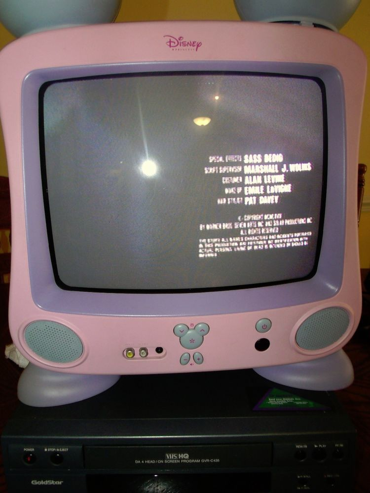 Disney Dt1300 P 13 Quot Crt Television Pink Princess Mickey