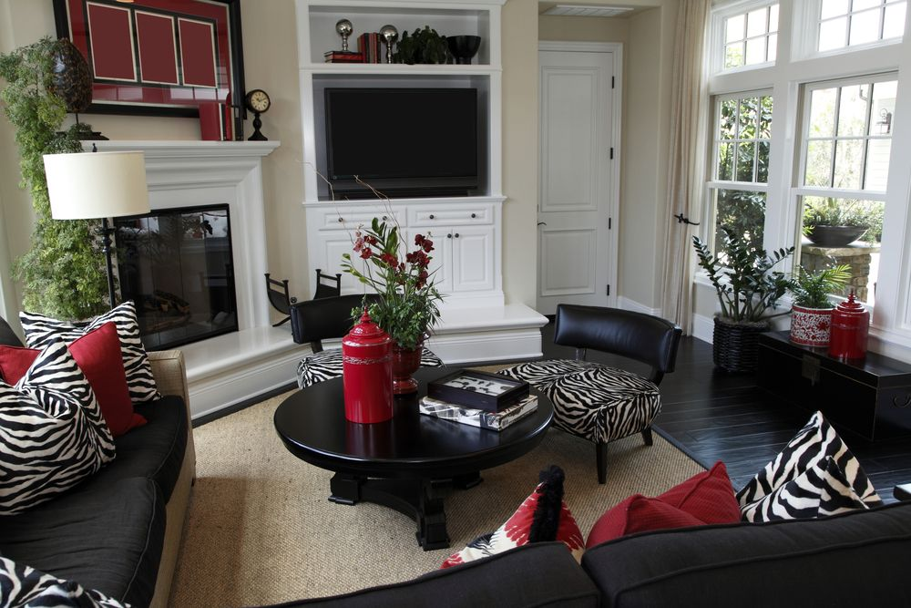 Best Casual Living Room Decorated Heavily In Black With Black 400 x 300
