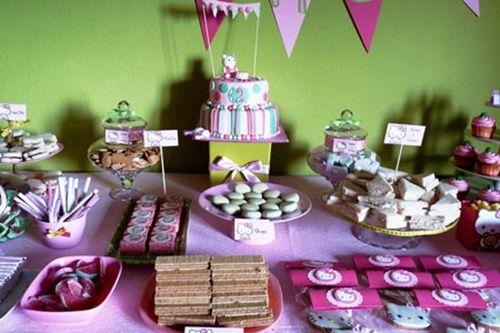 Decoracion de mesa para fiesta hello kitty fiestas de for Decoracion mesas fiestas