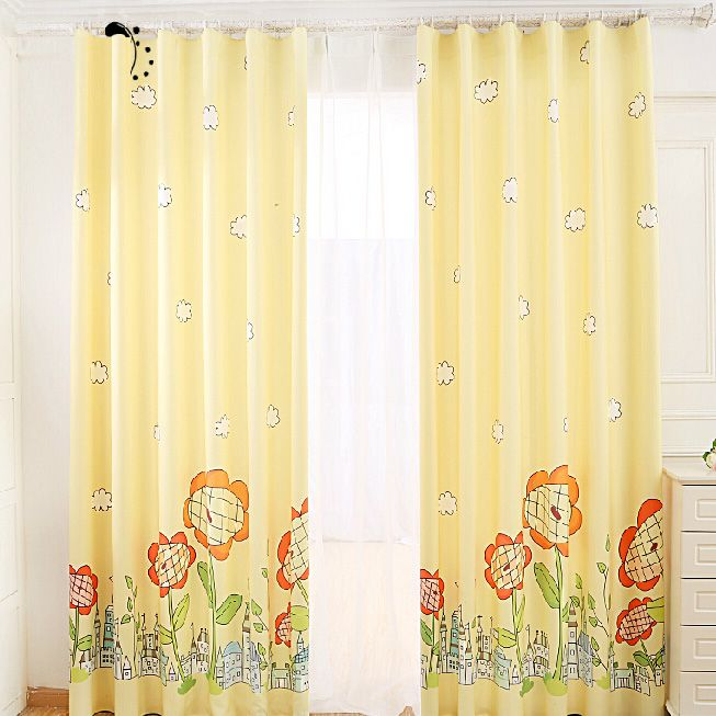 Quality Yellow Sunflower Blackout Nursery Curtains Sunflowers And