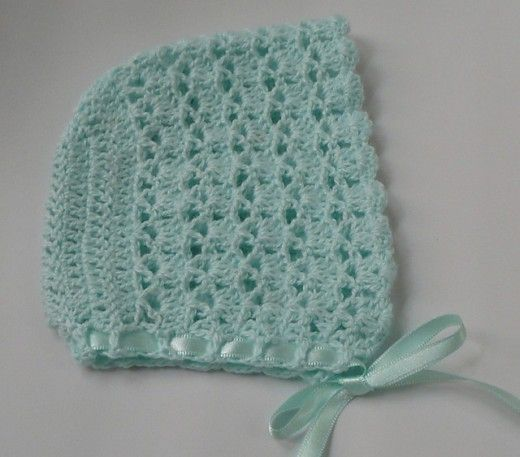 Free Crochet Patterns for Baby Bonnets | Babysachen, Babykleider und ...