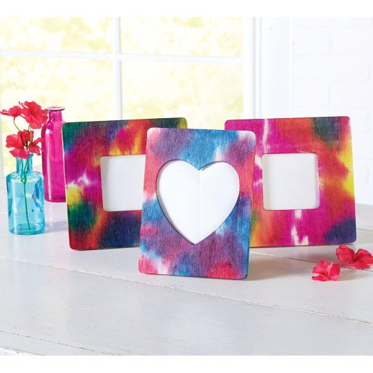 4 X 6 Wood Frame 6 Pack By Artminds Girl Scout Stuff Tie Dye